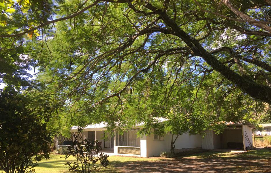 Kavera Beach House garden, Rarotonga